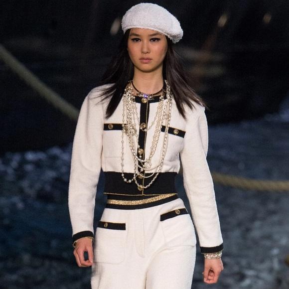Chanel Cruise 2019 La Pausa White 19C Cardigan